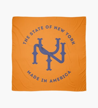 NY New York State Monogram Blue Scarf