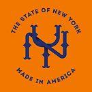 NY New York State Monogram Blue by Chocodole