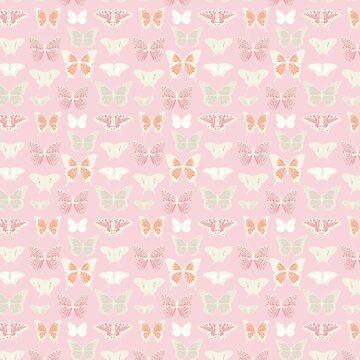 Pink Butterflies by heartlocked