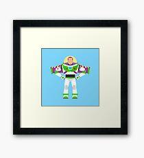 Buzz Lightyear Vector Framed Print