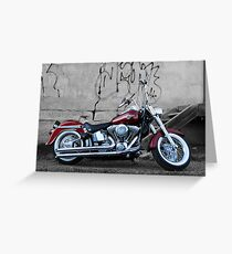 Harley davidson greeting cards redbubble fatboy greeting card m4hsunfo