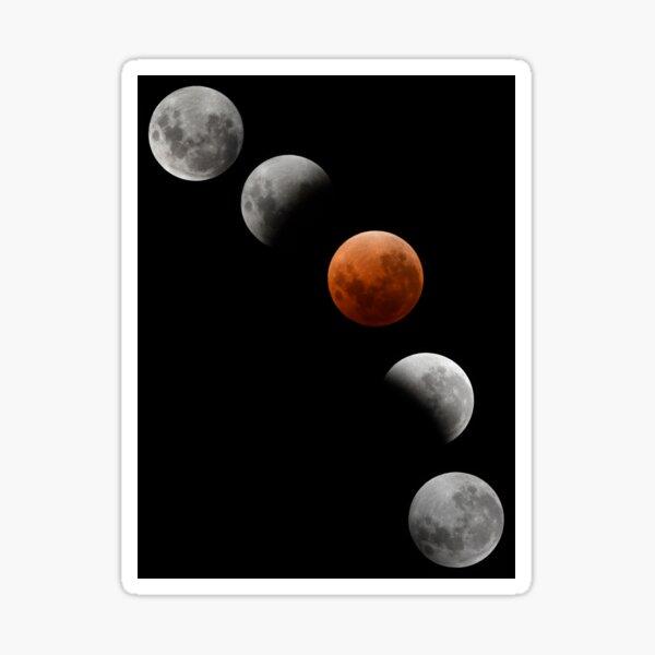 Blood Red Super Blue Moon Eclipse 2018 Sticker