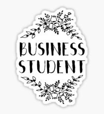 Business Student Grind Sticker