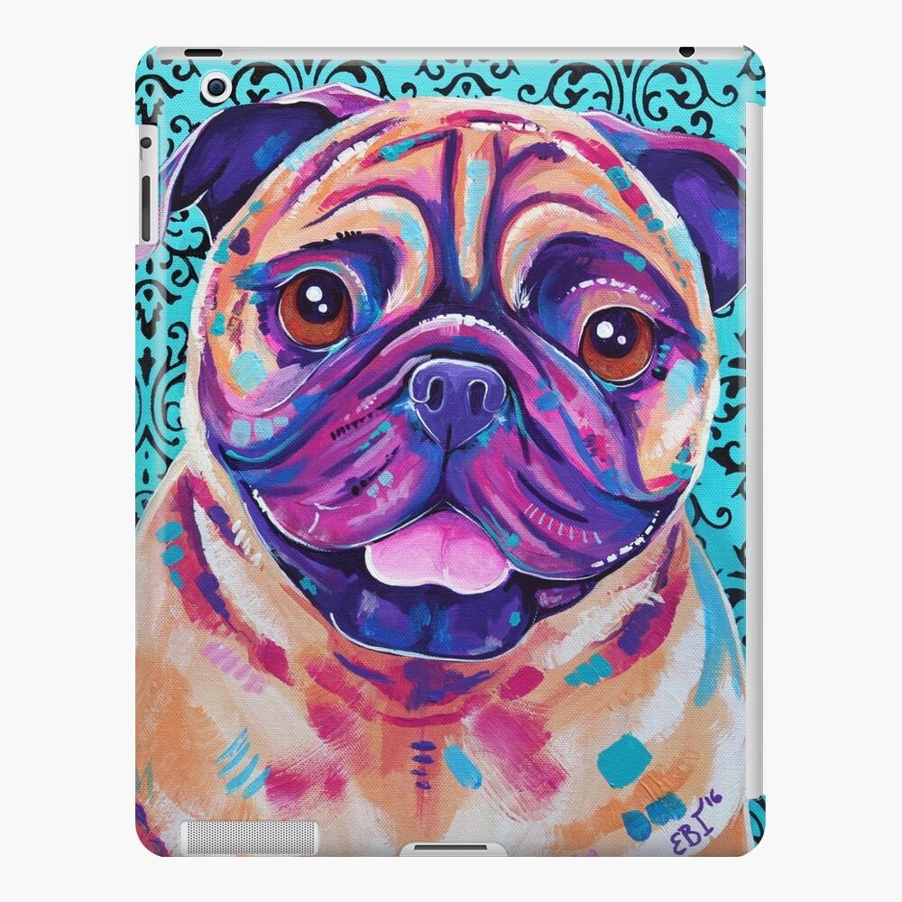 Billy - obra de arte de Tan Pug Dog Funda y vinilo para iPad