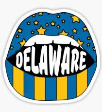 Delaware Lips Sticker