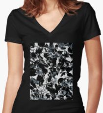 Microscopic Alien Fish Are Eating Away at my Brain Women's Fitted V-Neck T-Shirt
