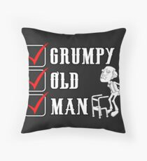Dekoracje Grumpy Old Git Slogan Joke Birthday Dad Grandad Dom i Meble Novelty Cushion Cover Warning