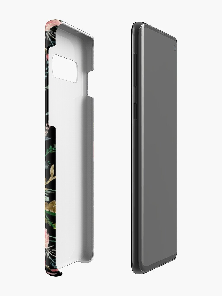 Alternate view of Midnight Floral Case & Skin for Samsung Galaxy