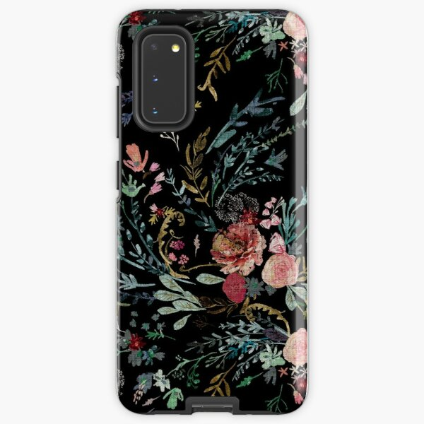 Midnight Floral Samsung Galaxy Tough Case