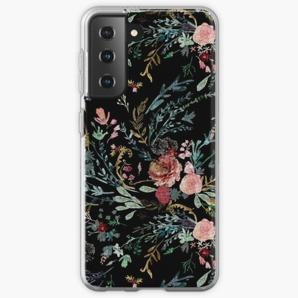 Midnight Floral Samsung Galaxy Soft Case