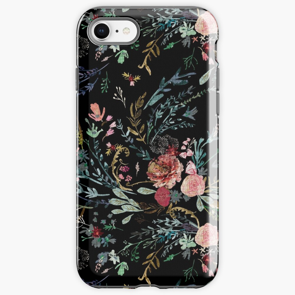 Midnight Floral iPhone Case & Cover