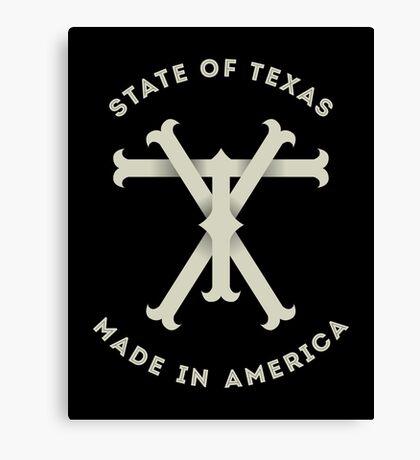 TX Texas Monogram Canvas Print