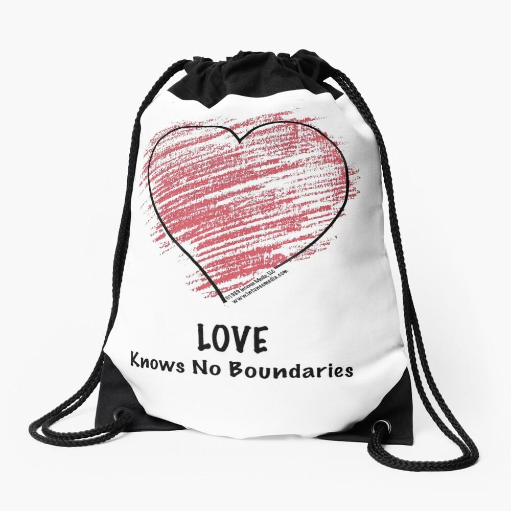 LOVE Knows No Boundaries Drawstring Bag