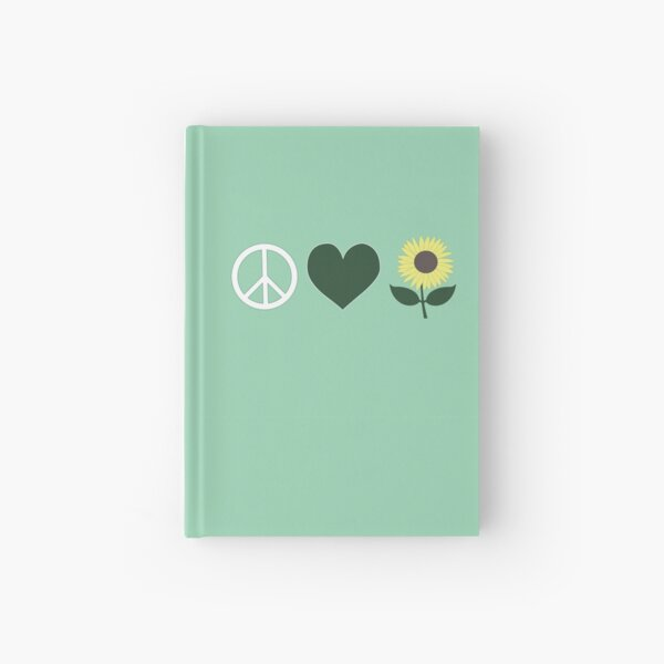Peace Love and Nature Hardcover Journal