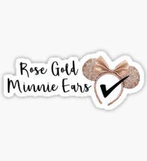 Rose Gold Ears  Sticker
