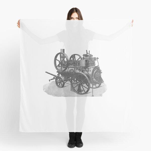 Ancient steam machine, steampunk, steampunk style, steampunk fashion, steampunk clothing, Cyberpunk, Dieselpunk, Fantasy, Science Fiction Scarf