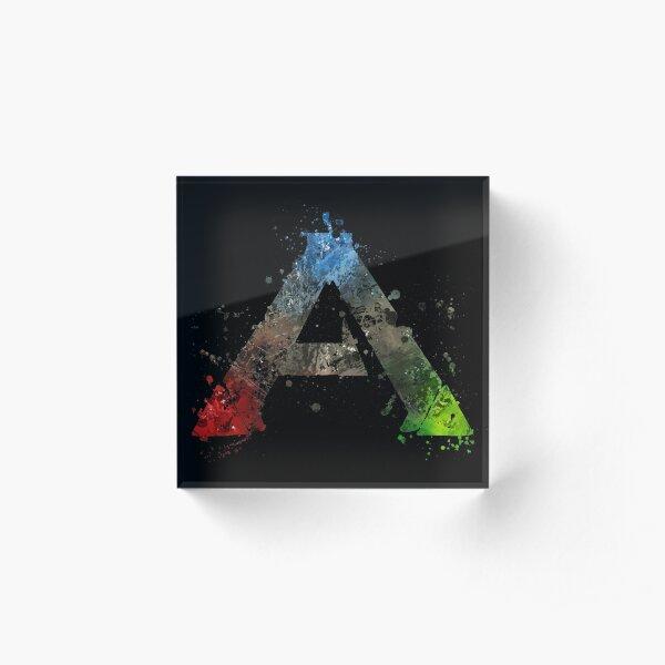 Ark Survival Evolved Splatter  Acrylic Block