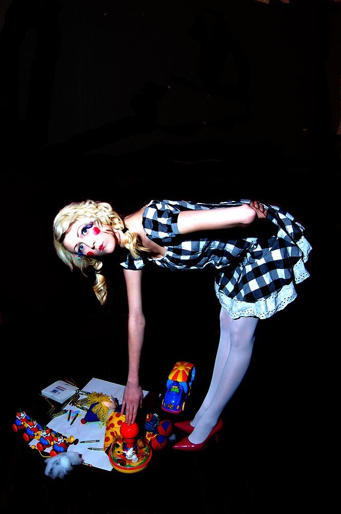 dark playroom by clydee