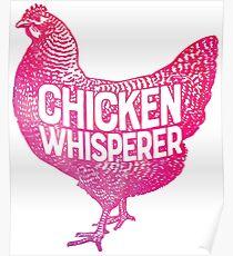e8c42599 Chicken Whisperer T-shirt Funny Farm Poultry Farmer Gifts Poster