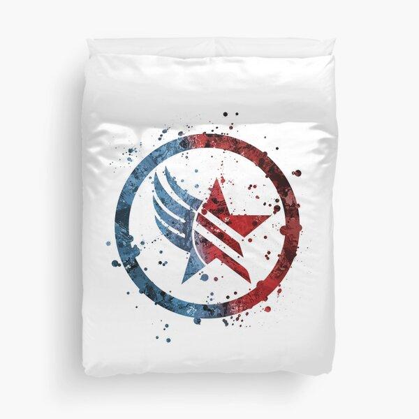 Mass Effect Renegade/Paragon Combo Splatter (Lite) Duvet Cover