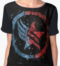 Mass Effect Renegade/Paragon Combo Splatter Chiffon Top