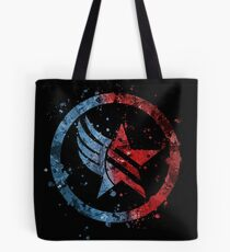 Mass Effect Renegade/Paragon Combo Splatter Tote Bag