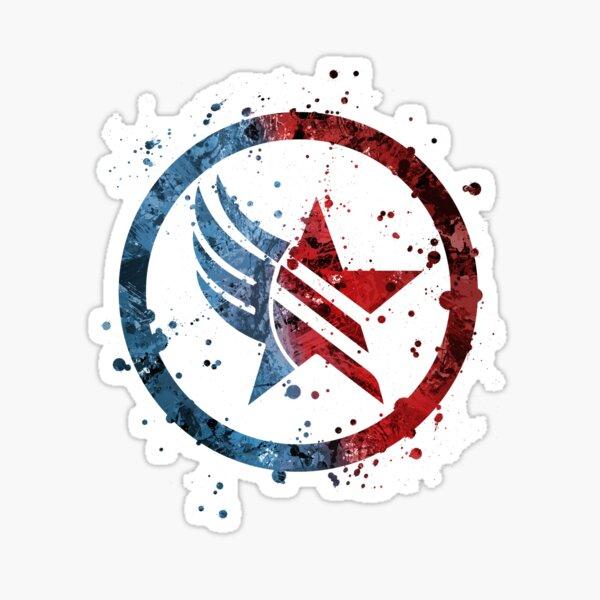 Mass Effect Renegade/Paragon Combo Splatter Sticker