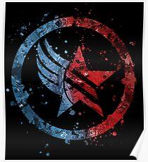 Mass Effect Renegade/Paragon Combo Splatter Poster