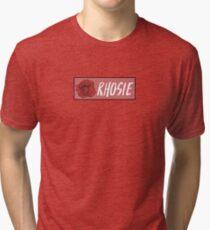 "Rho Psi Eta ""Rhosie"" - Salmon Rose Tri-blend T-Shirt"