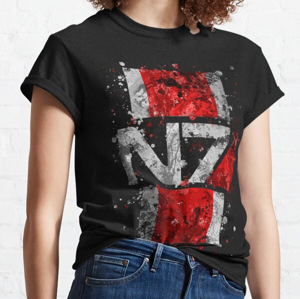 Mass Effect N7 Splatter  Classic T-Shirt