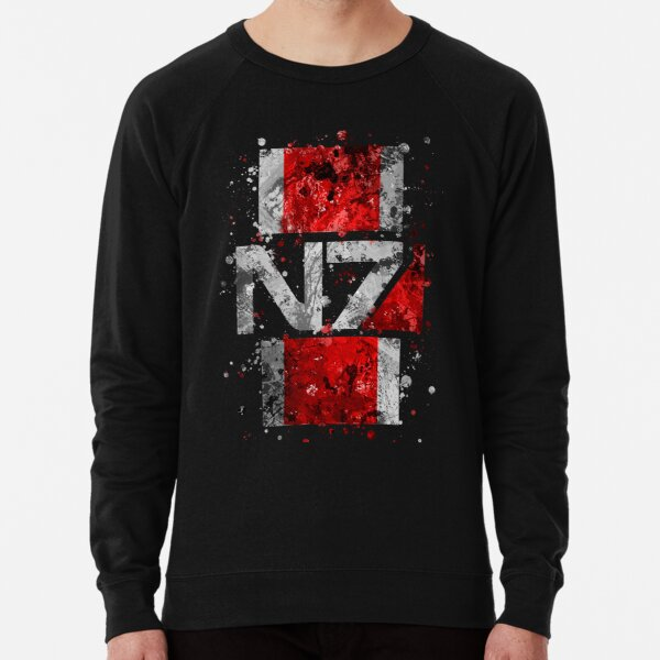 Mass Effect N7 Splatter  Lightweight Sweatshirt