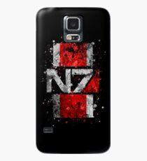 Mass Effect N7 Splatter  Case/Skin for Samsung Galaxy