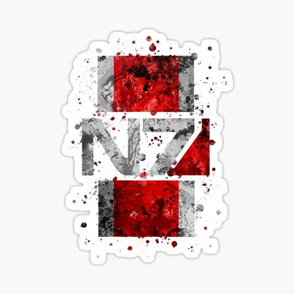 Mass Effect N7 Splatter  Sticker