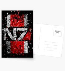 Postales Mass Effect N7 Splatter