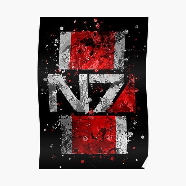 Mass Effect N7 Splatter  Poster
