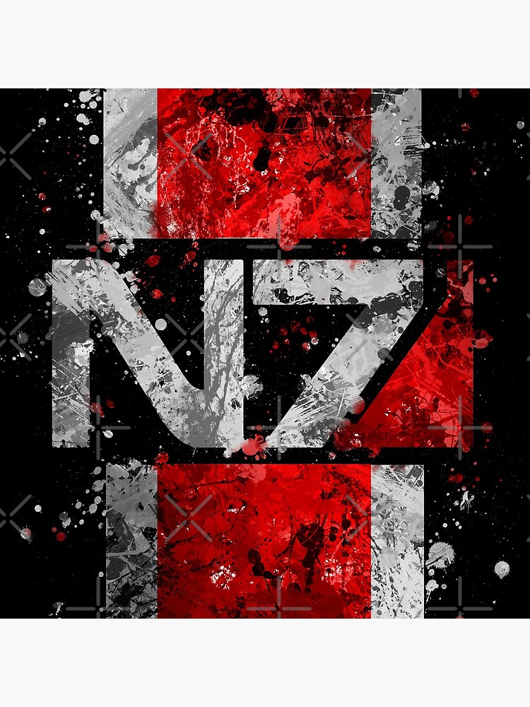 Mass Effect N7 Splatter  by jsumm52