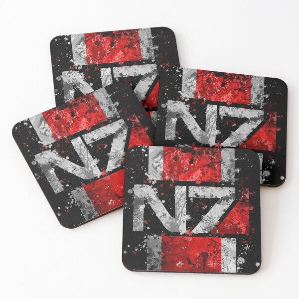 Mass Effect N7 Splatter  Coasters (Set of 4)