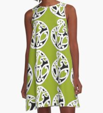 MAD HUE AOTEAROA Green A-Line Dress