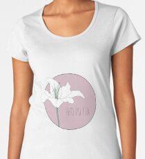Rho Psi Eta Lily - Dusty Pink Women's Premium T-Shirt