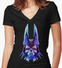 Lich Low Poly Art Women's Fitted V-Neck T-Shirt