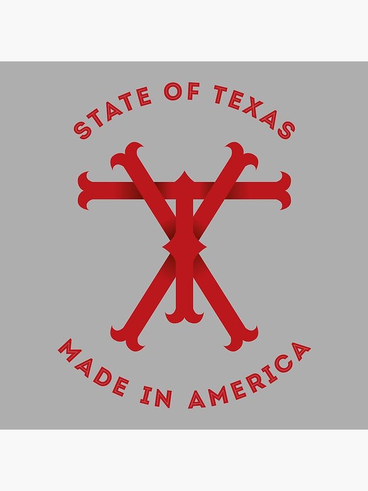 TX Texas Monogram Red by Chocodole