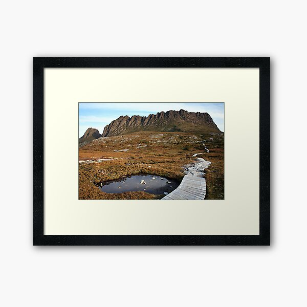 The Overland Trail below Cradle Mountain, Australia Framed Art Print