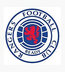Glasgow Rangers Retro Photographic Print