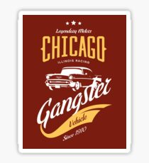 Chicago Gangster Car Retro Vintage Sticker