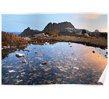 Cradle Mountain Tarn Sunset, Australia Poster