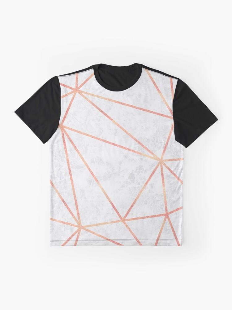 Alternative Ansicht von Marmor Geometrische Rose Gold Design Grafik T-Shirt