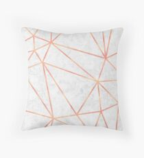 Marble Geometric Rose Gold Design Floor Pillow