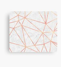 Marble Geometric Rose Gold Design Canvas Print