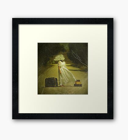 Which way ought I to go? Framed Print