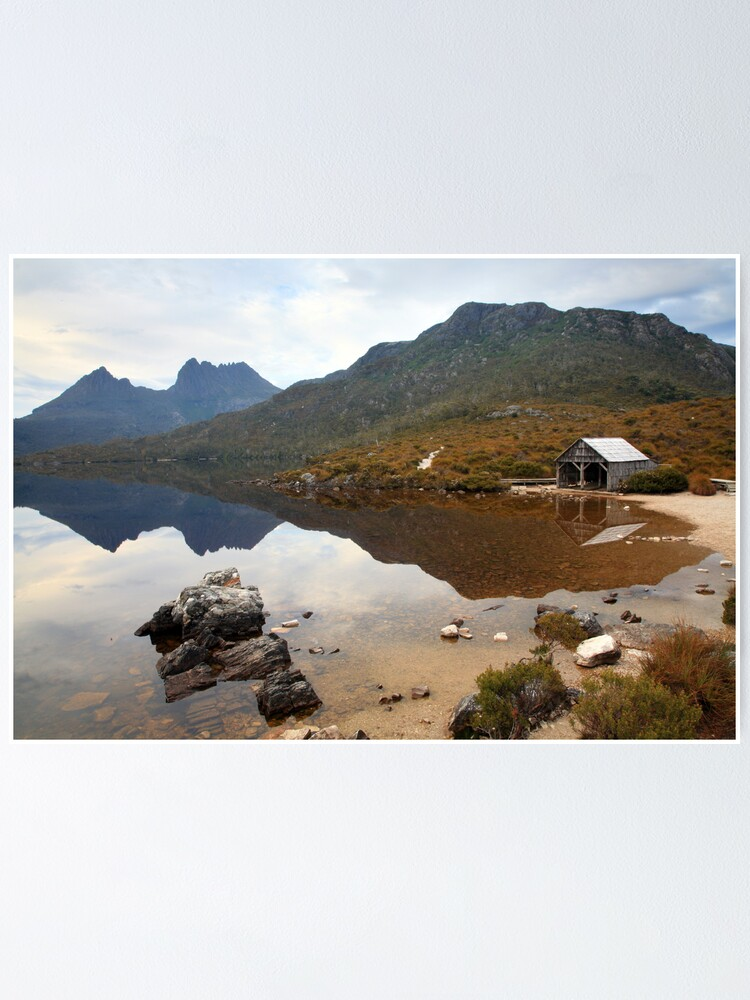 Alternate view of Boat Shed, Dove Lake, Cradle Mountain Nat. Park, Australia Poster